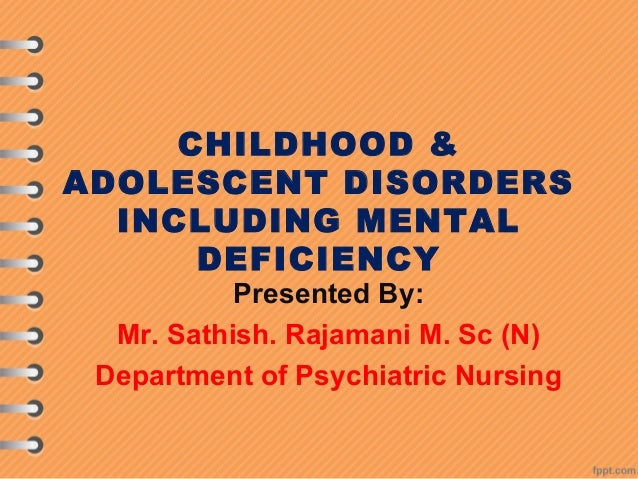 Mental Retardation And Other Child Psychiatric Disorders