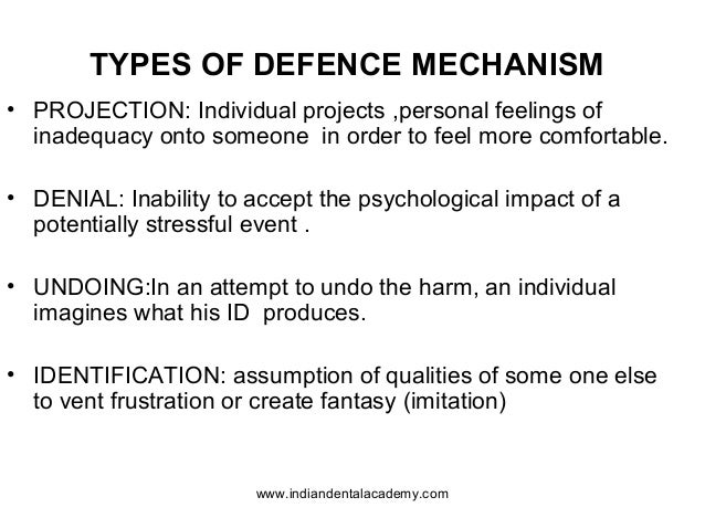 definition of projection in psychology Projection is a psychological defense mechanism in which  neurotic projection is the most common variety of projection and most clearly meets the definition of .