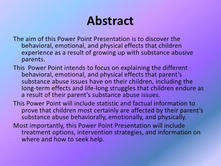 The life threatening effects of prenatal drug abuse on children