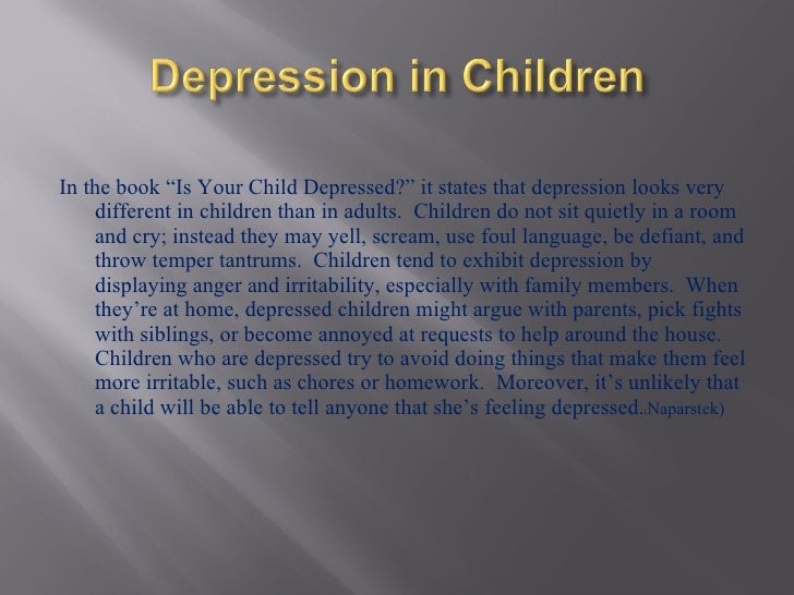 Children And Depression Ppt