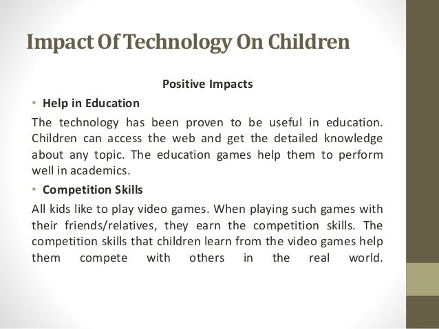 the impact of technology in learning and education Computers & education aims to increase knowledge and understanding of ways in which digital technology can enhance education, through the.