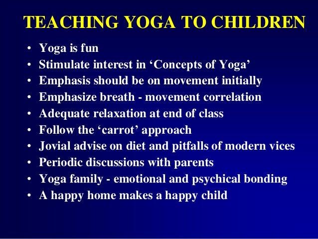 10 TEACHING YOGA TO CHILDREN