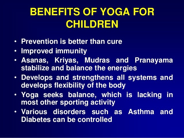 YOGA FOR HEALTH IN CHILDREN