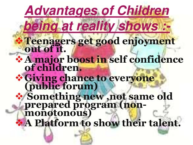 article on reality shows