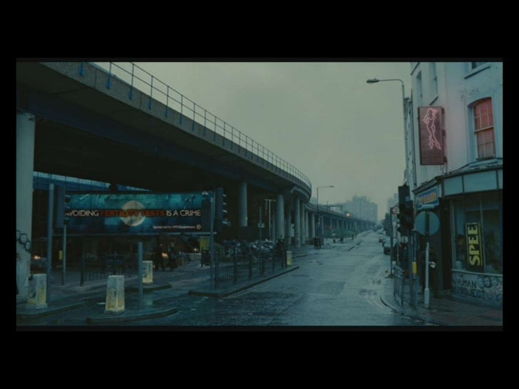 children of men setting essay Is children of men a typical science the film is set in the mulvey's essay 'visual pleasure and narrative cinema' uses ideas from freud's psychoanalytic.
