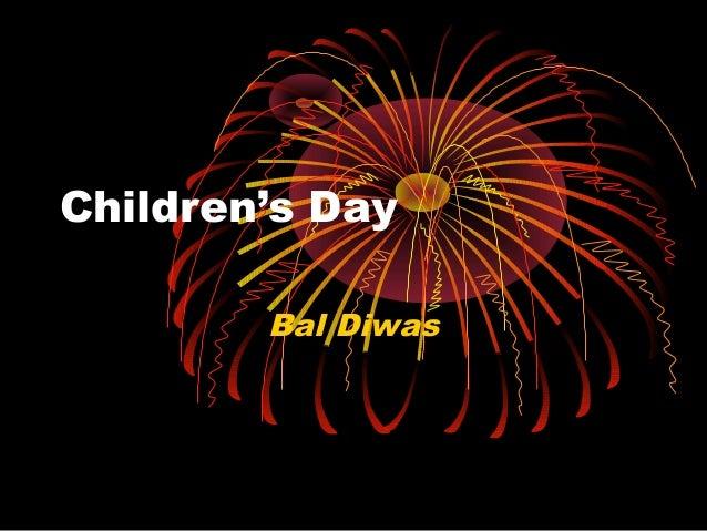 Children's Day Bal Diwas