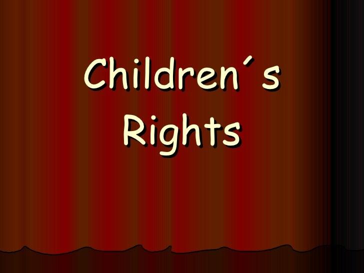 Children´s Rights