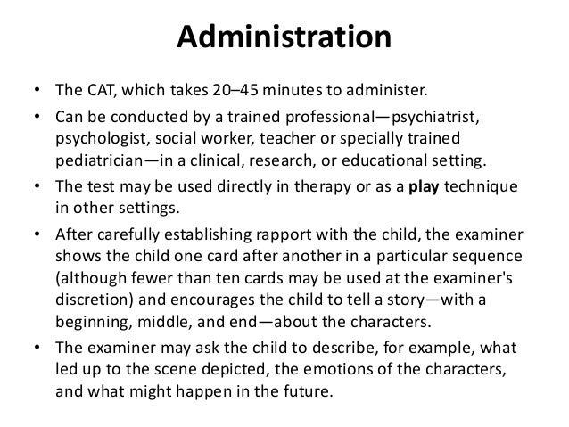 Children's apperception test