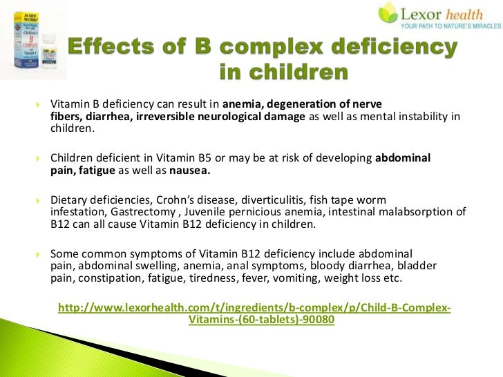 Childrens B Complex Supplements Lexor Health