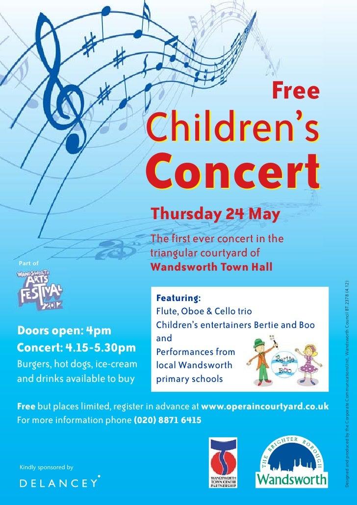 Free                               Children's                               Concert                               Thursday...