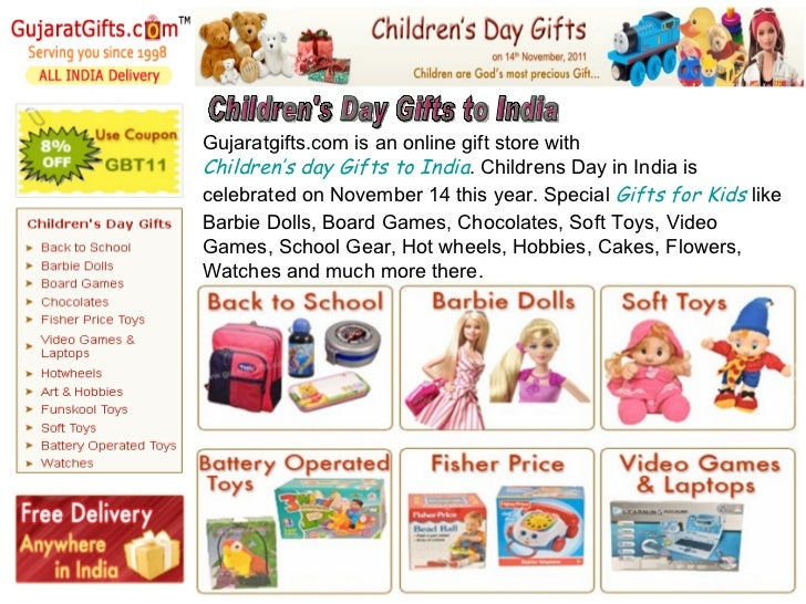 Children's Day Gifts to India Gujaratgifts.com is an online gift store with Children's day ...