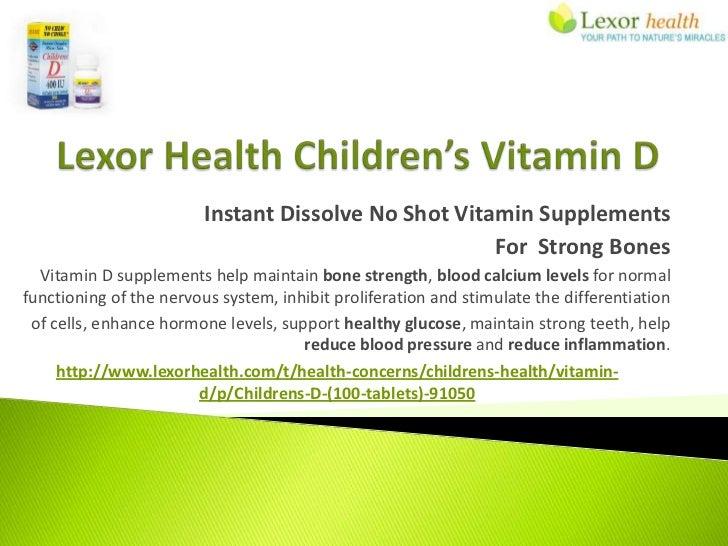 Instant Dissolve No Shot Vitamin Supplements                                                      For Strong Bones  Vitami...