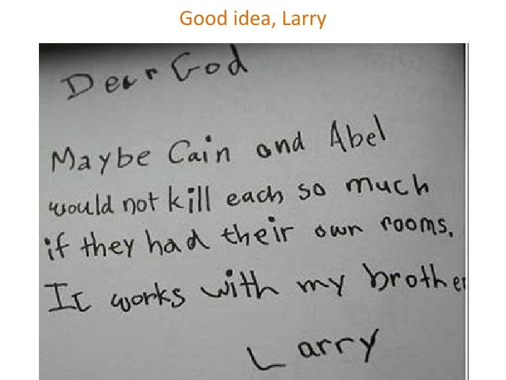 good idea larry