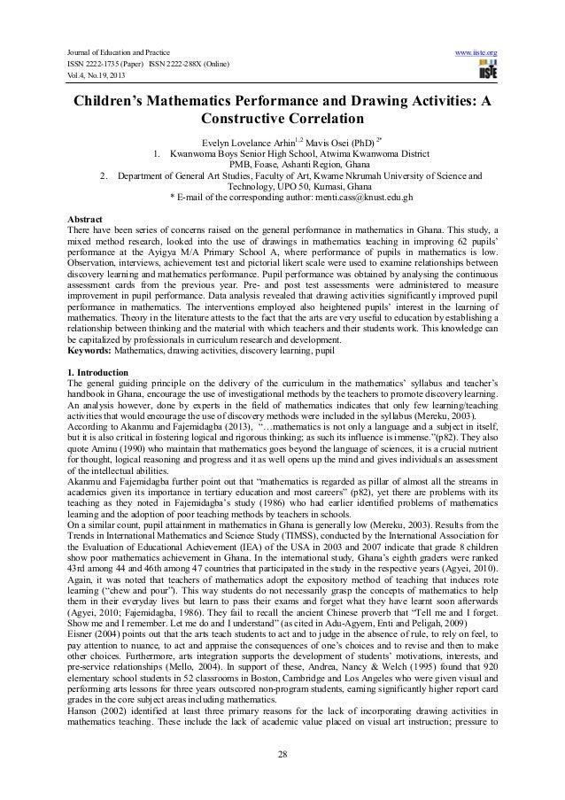 Journal of Education and Practice ISSN 2222-1735 (Paper) ISSN 2222-288X (Online) Vol.4, No.19, 2013  www.iiste.org  Childr...