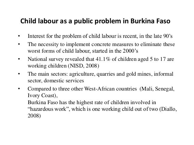 an argument against child labour A second argument against child labour is the child labourers will experience from business acct2062 at royal melbourne institute of technology.