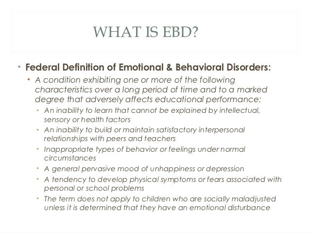 Emotional disorder behavior