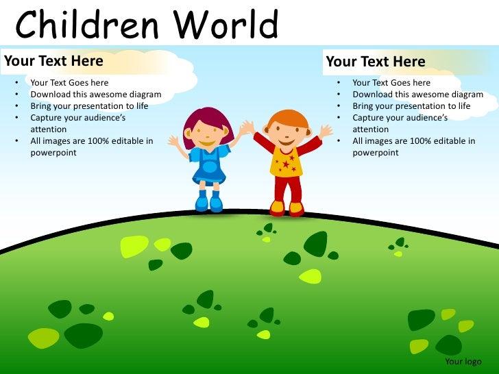 children world powerpoint presentation templates. Black Bedroom Furniture Sets. Home Design Ideas