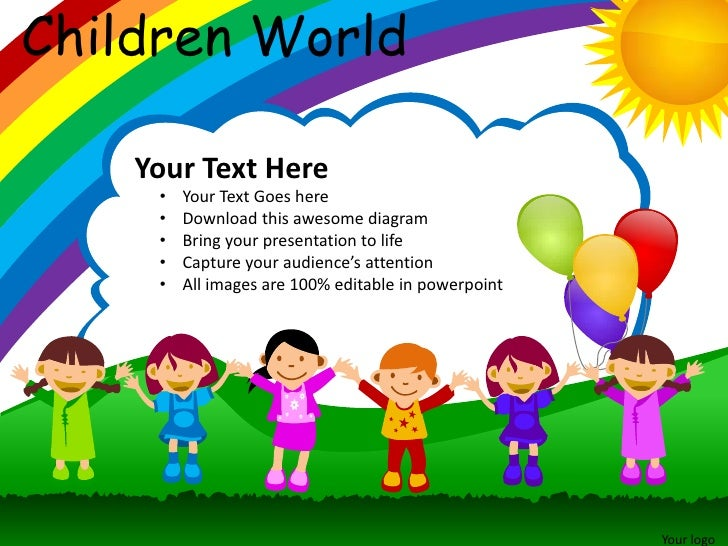 Children world powerpoint presentation templates children toneelgroepblik Images
