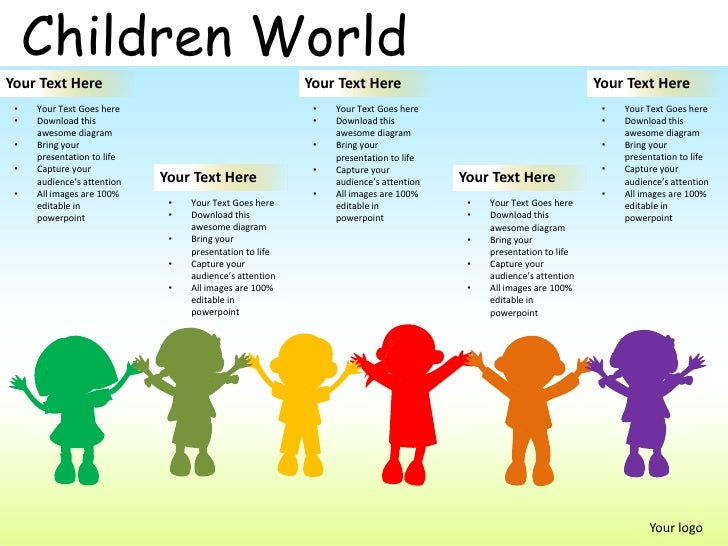 children world powerpoint presentation templates, Presentation templates