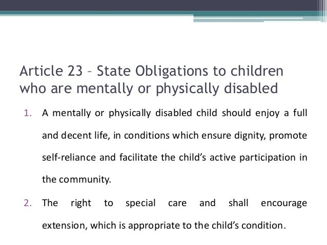 un conference relating to the actual rights of that kid content 22