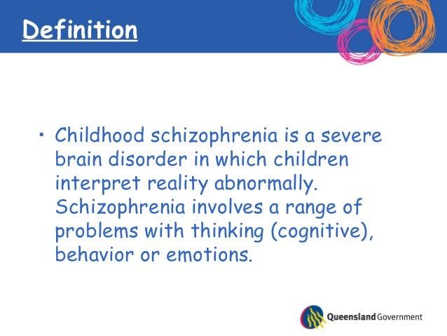 Child schizophrenia and depression