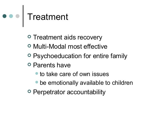 a summary of therapies on victims of child sexual abuse People who sexually abuse children look and act just like anyone else  people  who sexually abuse a child, it's a victim of convenience or based on their specific  relationship  get a daily summary of the news every morning.