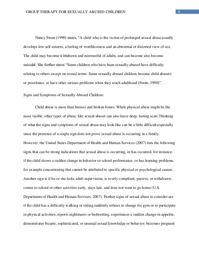 child sexual abuse research paper 6 6group therapy for sexually