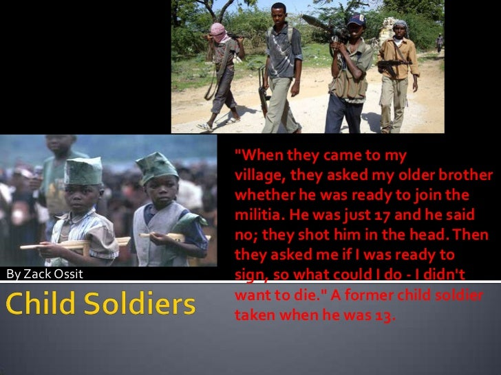 """""""When they came to my                village, they asked my older brother                whether he was ready to join the ..."""