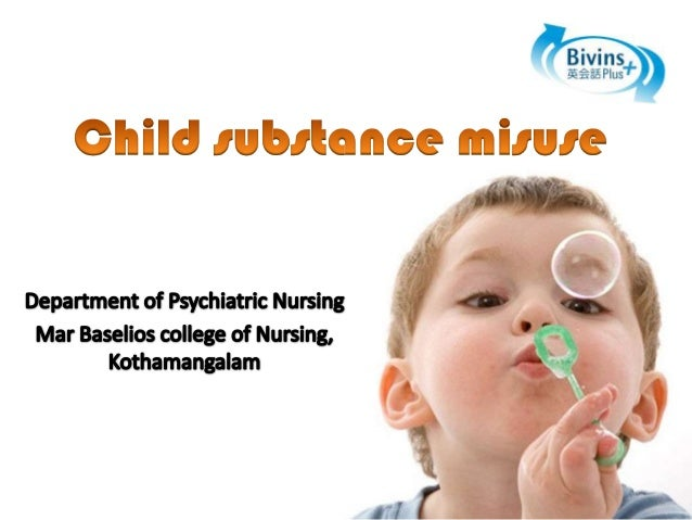 Child substance misuse