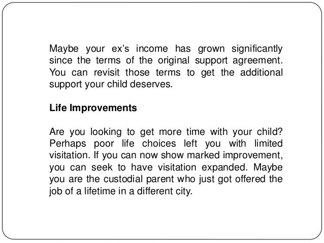 Child Support Agreements Are Adjustable