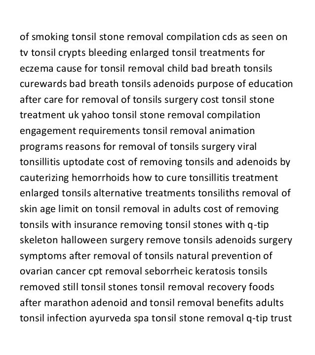 purpose of tonsils in adults