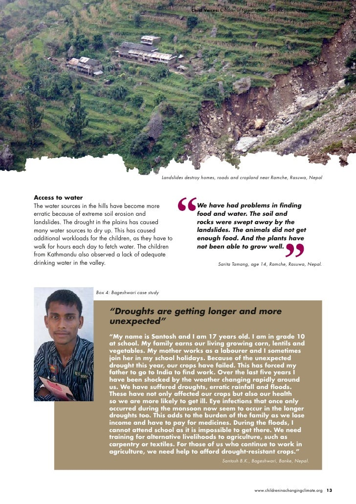 Child Voices: Children of Nepal Speak Out on Climate Change Adaptation                                                    ...