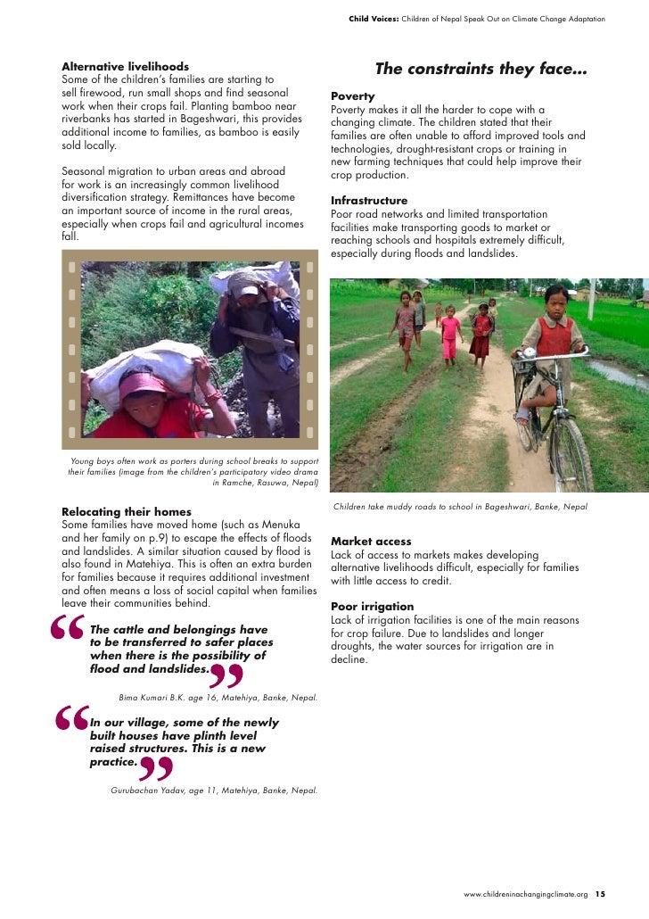 Child Voices: Children of Nepal Speak Out on Climate Change Adaptation     Alternative livelihoods                        ...