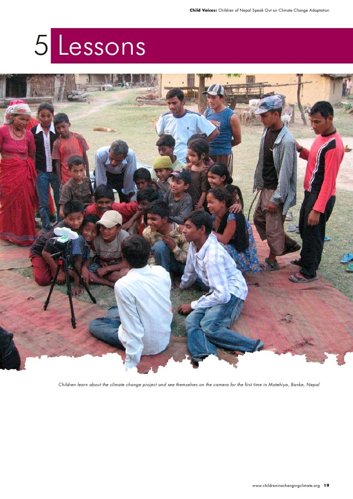 Child Voices: Children of Nepal Speak Out on Climate Change Adaptation     5 Lessons      Children learn about the climate...