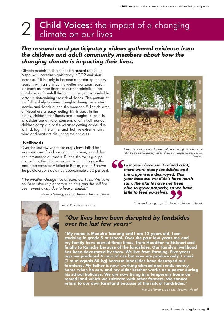 Child Voices: Children of Nepal Speak Out on Climate Change Adaptation     2          Child Voices: the impact of a changi...