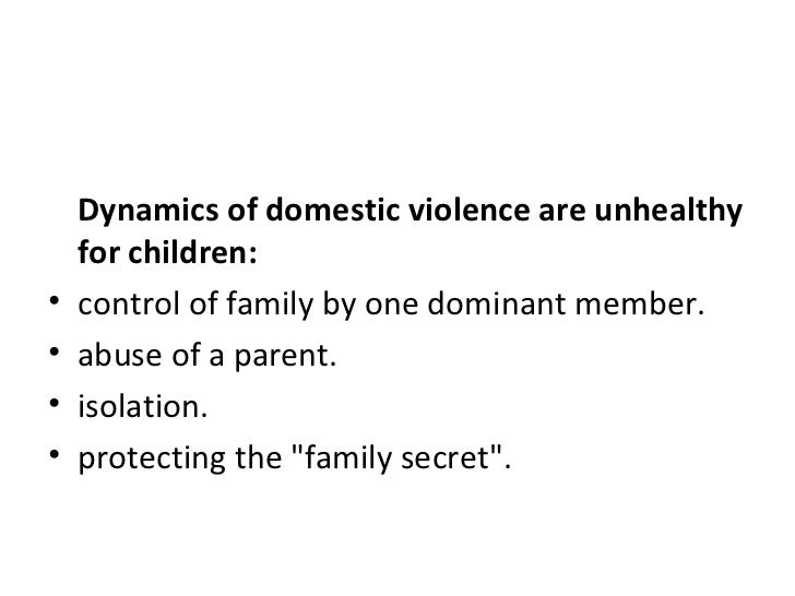 child witness to domestic violence   ackerman and pickering 1989 6 dynamics of domestic violence