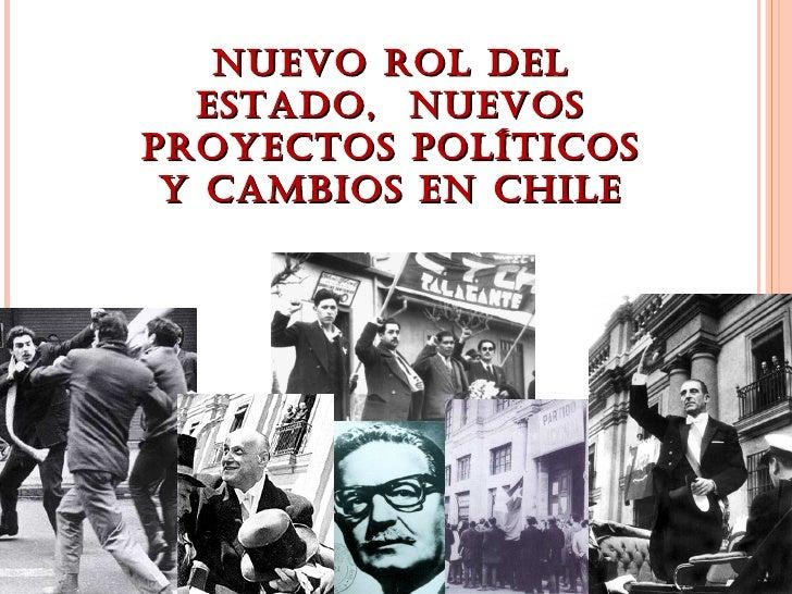 NUEVO ROL DEL  ESTADO, NUEVOSPROYECTOS POLÍTICOS Y CAMBIOS EN CHILE