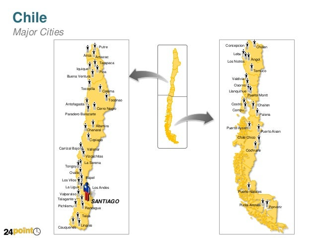 Chile Map PowerPoint Custom Slides - Chile map