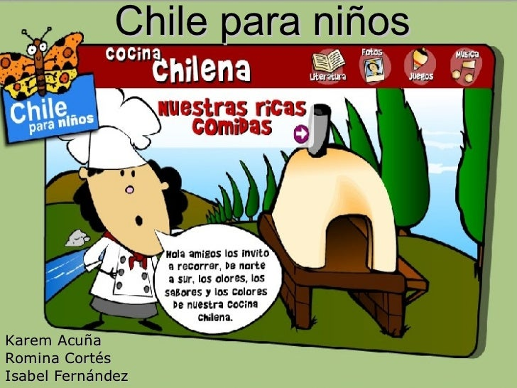 Chile para niños Karem Acuña Romina Cortés Isabel Fernández
