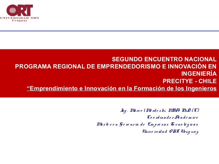 SEGUNDO ENCUENTRO NACIONALPROGRAMA REGIONAL DE EMPRENDEDORISMO E INNOVACIÓN EN                                            ...