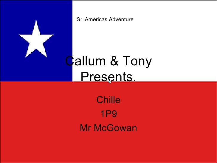 Callum & Tony Presents. Chille 1P9 Mr McGowan S1 Americas Adventure