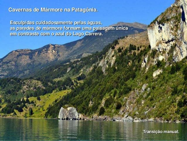 Cavernas de Mármore na Patagônia. Esculpidas cuidadosamente pelas águas, as paredes de mármore formam uma paisagem única e...