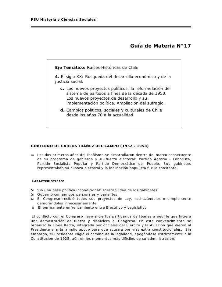 PSU Historia y Ciencias Sociales                                                            Guía de Materia N°17          ...