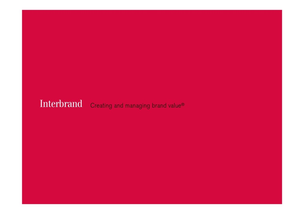Interbrand   Creating and managing brand value®