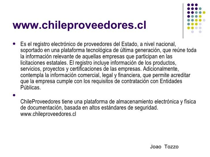 Chile Proveedores Slide 2