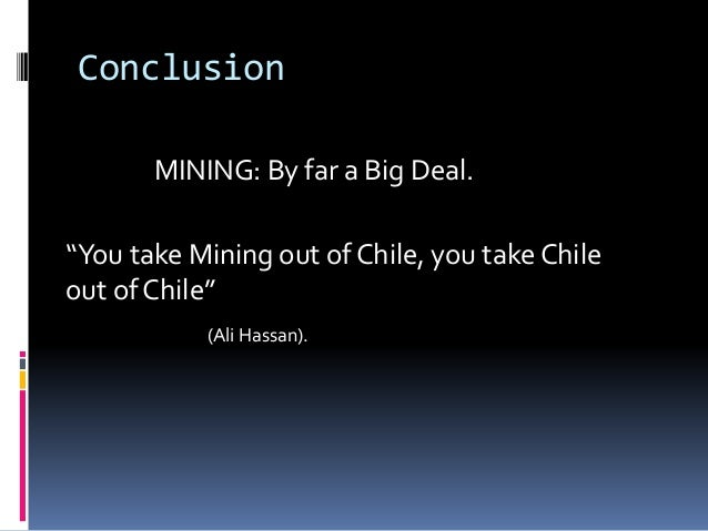 Chile's mining industry & economy