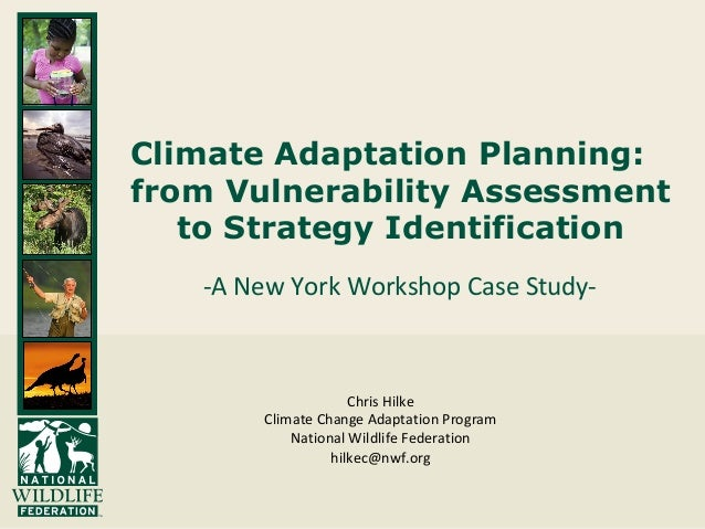 Climate Adaptation Planning: from Vulnerability Assessment to Strategy Identification -A New York Workshop Case Study- Chr...