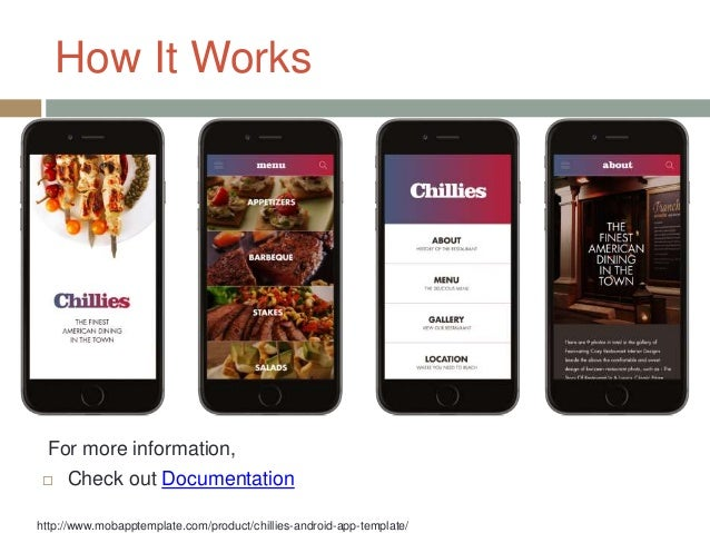 chillies android app template fit for your restaurant mobile apps o