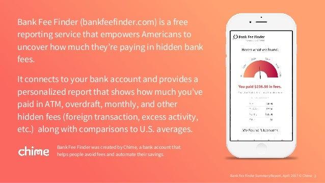 Bank Fee Finder - April 2017 Report Slide 2