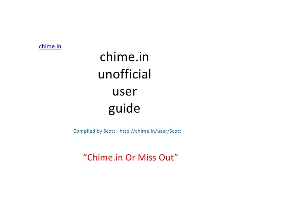 chime.in                     chime.in                     unofficial                       user                      guide...